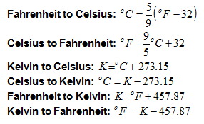 Celsius Farenheit Kelvin Conversion Equations Basically CF