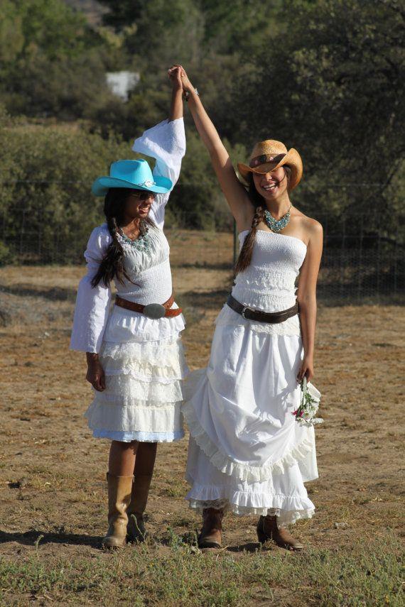 Country Western / Prairie Cowgirl Wedding dress by cestMoiLeShoppe, $399.00