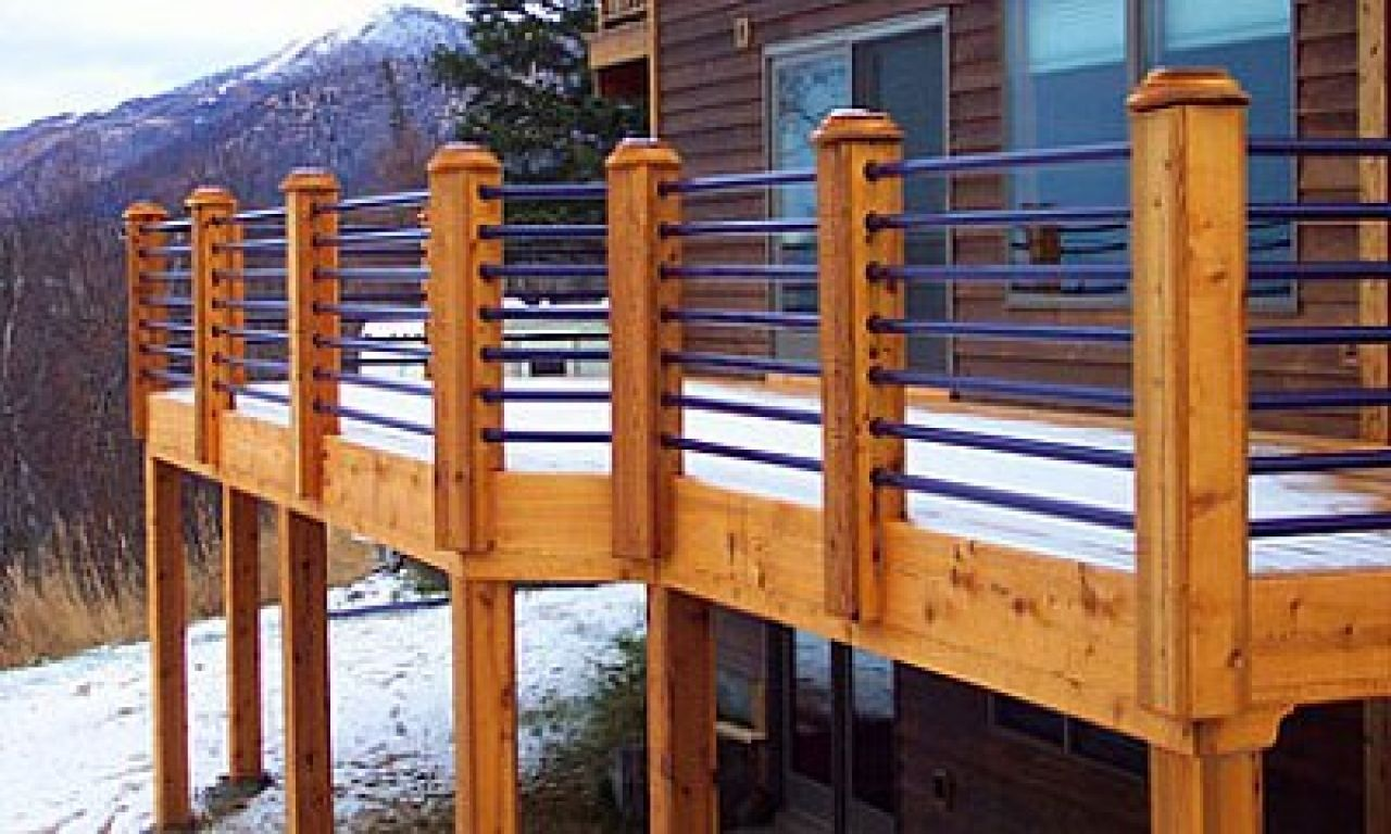 Get Some Great Inspiration For Deck Railings Ideas Simple Horizontal Cable Deck Design Traditio Wood Deck Railing Deck Railing Design Horizontal Deck Railing