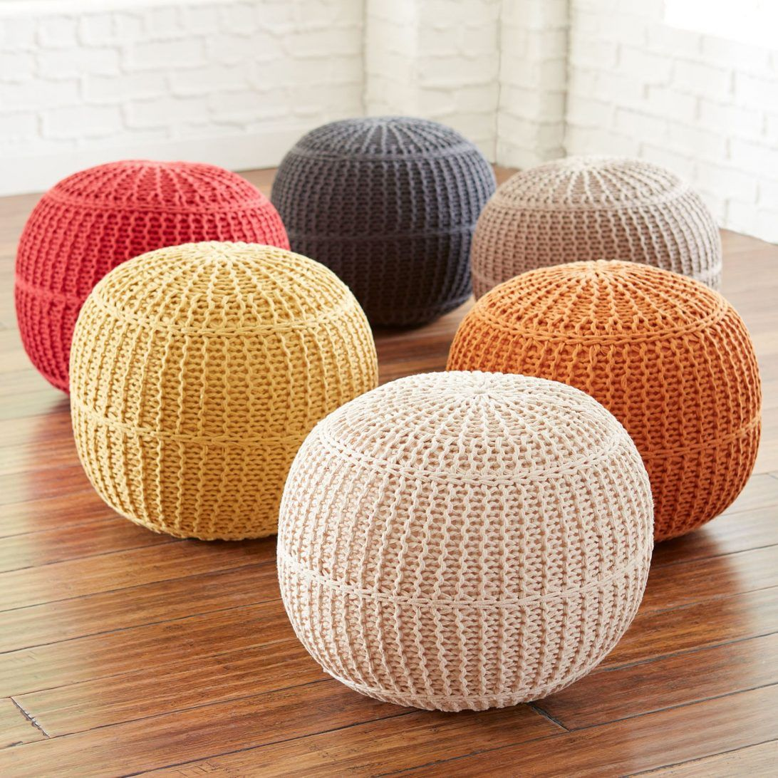 Luxury Poufs Image By Elizabeth Gordon Studio Knitted Ottoman