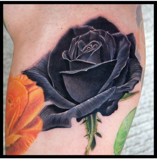 Pour un modele tatouage rose noire d couvrez des centaines de photos de tattoos de rose - Tatouage rose noire signification ...