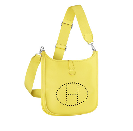 5b67a070ce0 Hermes Yellow Evelyne III PM Bag