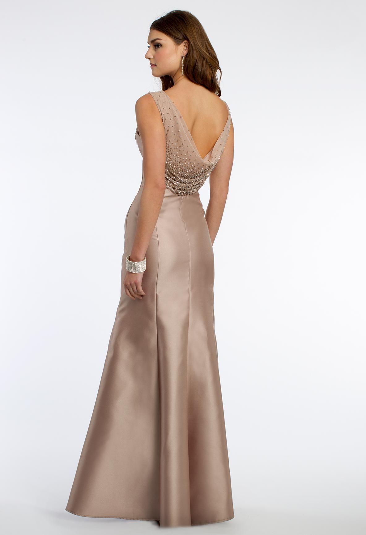 fe81baf3c6 Cowl Neck Prom Dress  camillelavie  CLVprom