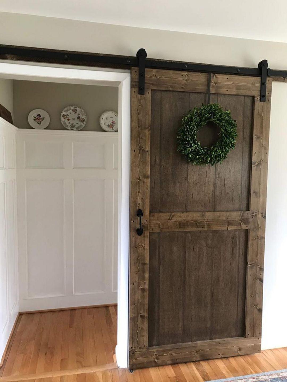 20 perfect farmhouse sliding barn door design ideas in