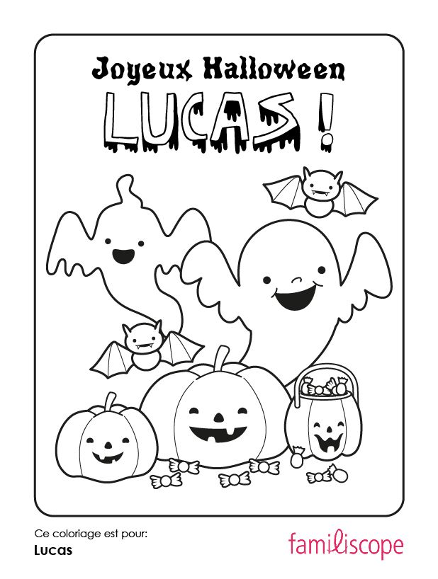 Dessin Joyeux Halloween.Coloriages Avec Un Prenom Joyeux Halloween Joyeux Halloween Coloriage Coloriage Halloween