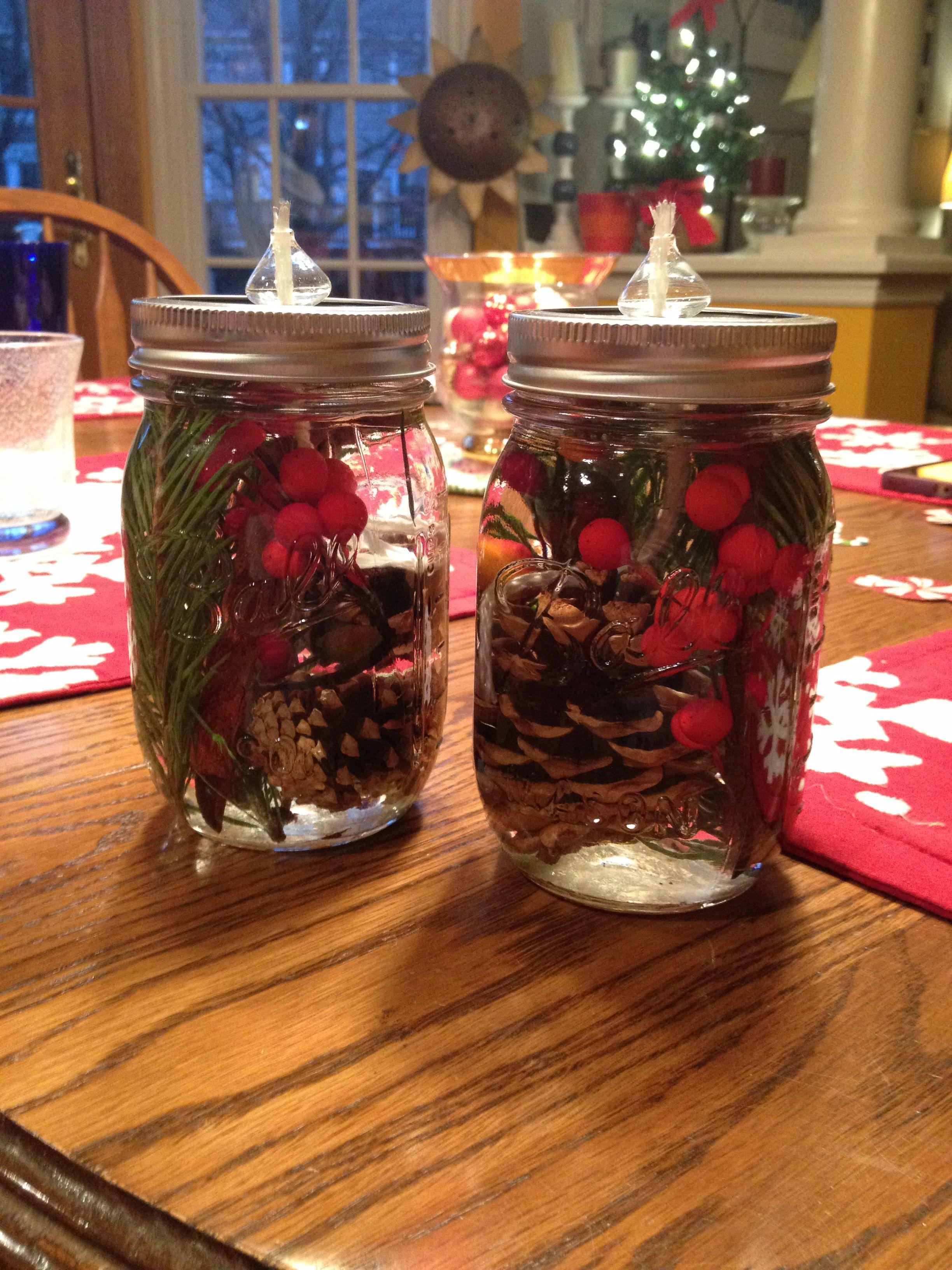 diy christmas mason jar oil candles diy christmas mason jars mason jar diy mason jar crafts. Black Bedroom Furniture Sets. Home Design Ideas