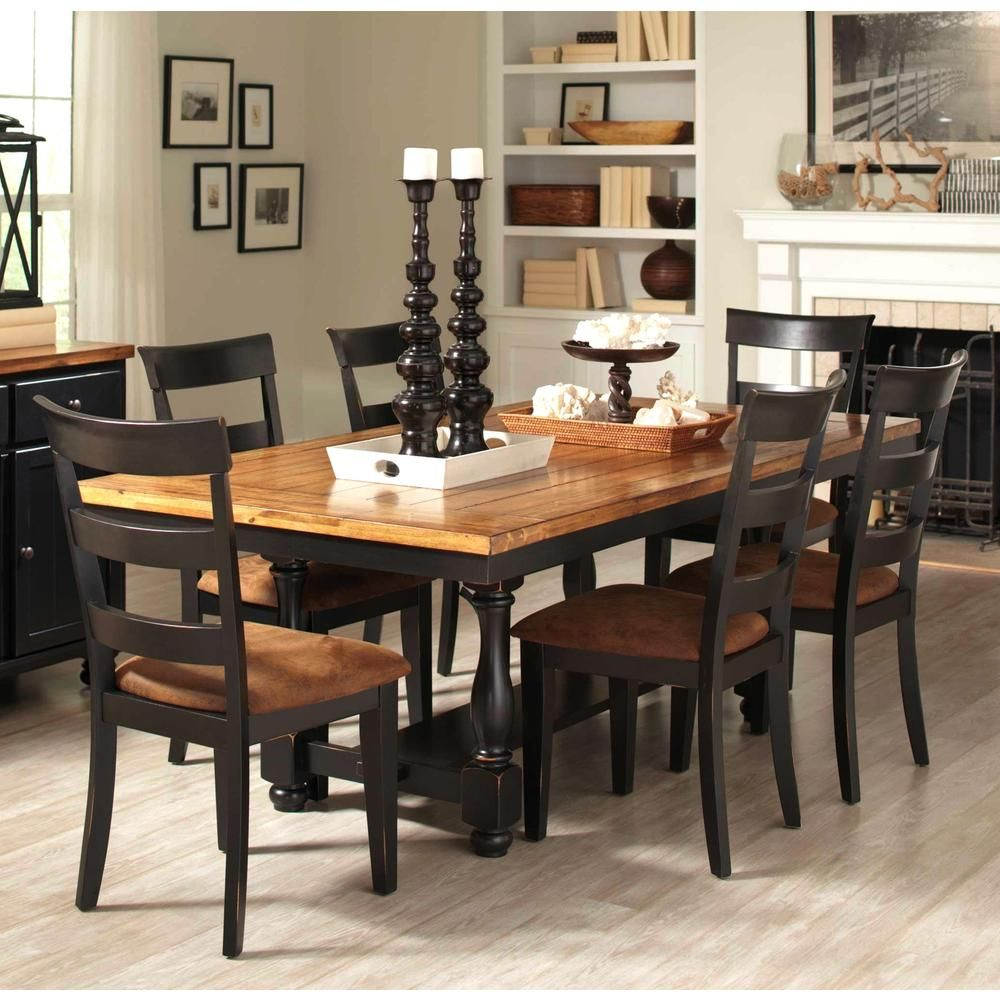 Denmark Classic Distressed Black 7 Piece Dining Set | Overstock™ Shopping    Big Discounts On Dining Sets