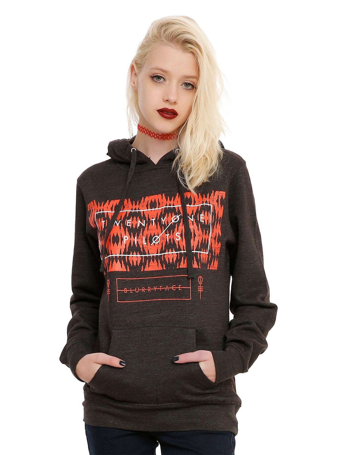 e5e4cfcdb Twenty One Pilots Blurryface Girls Hoodie | My Kind of Fashion ...