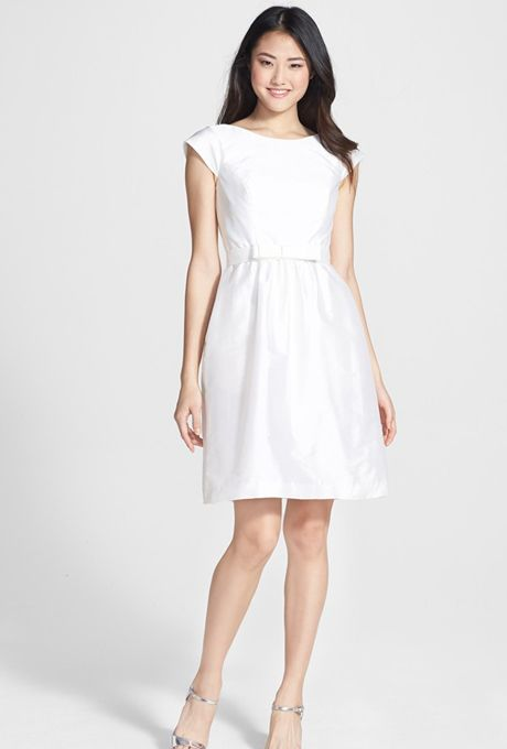 Little White Dresses You Can Buy Right Now | Satin, Alfred sung ...