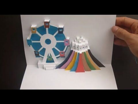 Ferris Wheel Pop Up Card Tutorial Origamic Architecture Card Tutorial Pop Up Cards Pop Up