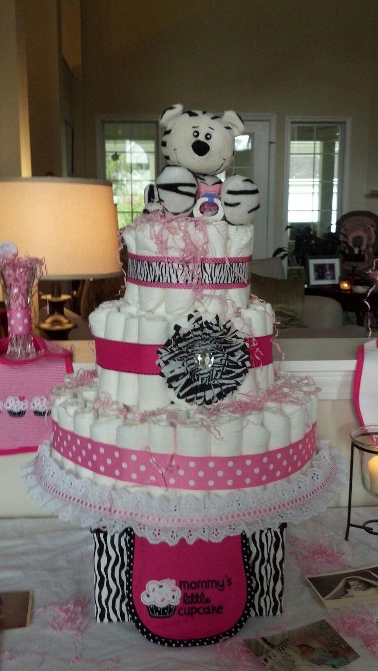 Purple Zebra Baby Shower Cake Topsimages