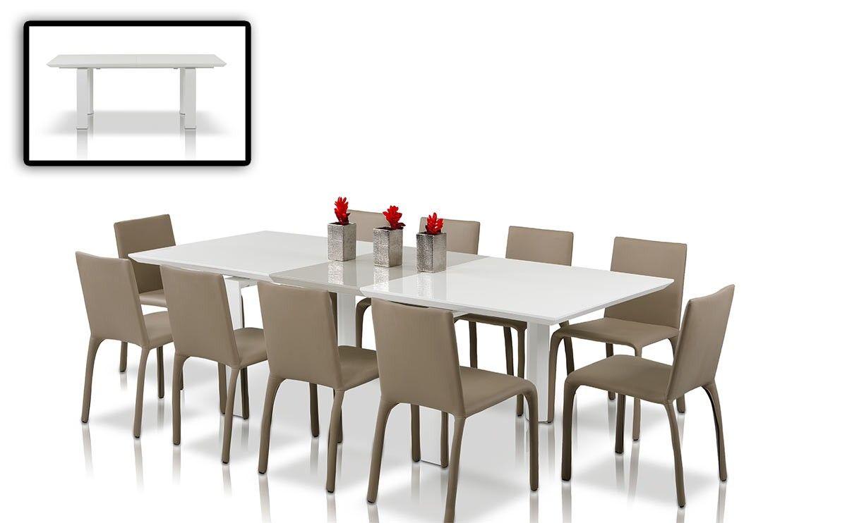 Eettafel Stoelen Modern.Modern Lacquer Dining Table Set Furniture In Grey 675