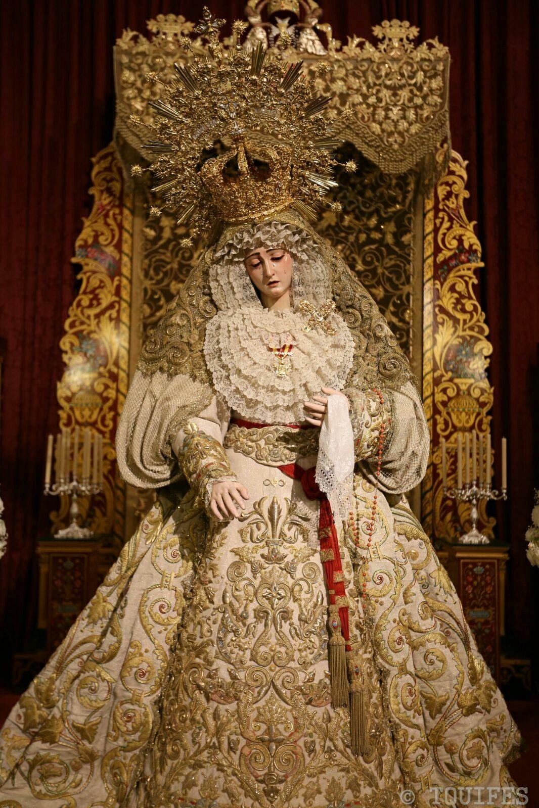 Maria Santisima Del Rosario En Sus Misterios Dolorosos Coronada Hermandad De Montesion O De El Monte Sion Imagen Ano Virgencita Virgen Maria Virgen Dolorosa