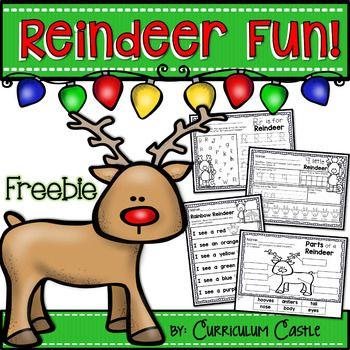 Reindeer Holiday Activities FREEBIE #reindeerfoodrecipe