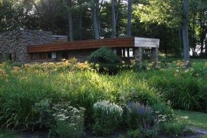 Perennial border outside of a Frank Lloyd Wright home…  extravagantgardens.com