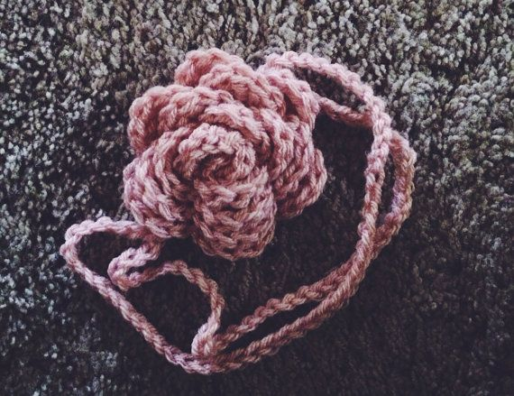 Little Rose Headband - Hand Crocheted - Made to Order - Select a Color on Etsy, $16.00
