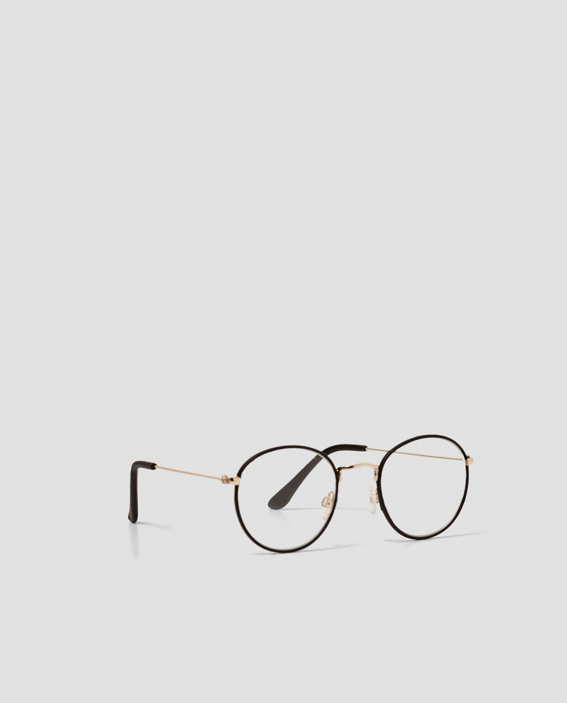 0d77de34b0 ZARA - WOMAN - GLASSES WITH LEATHER-LINED FRAME
