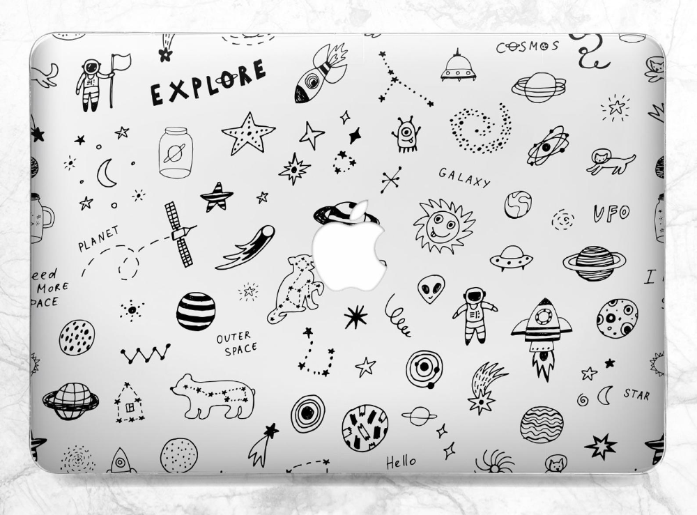 Macbook case space Clear case Spaceship Macbook case kids