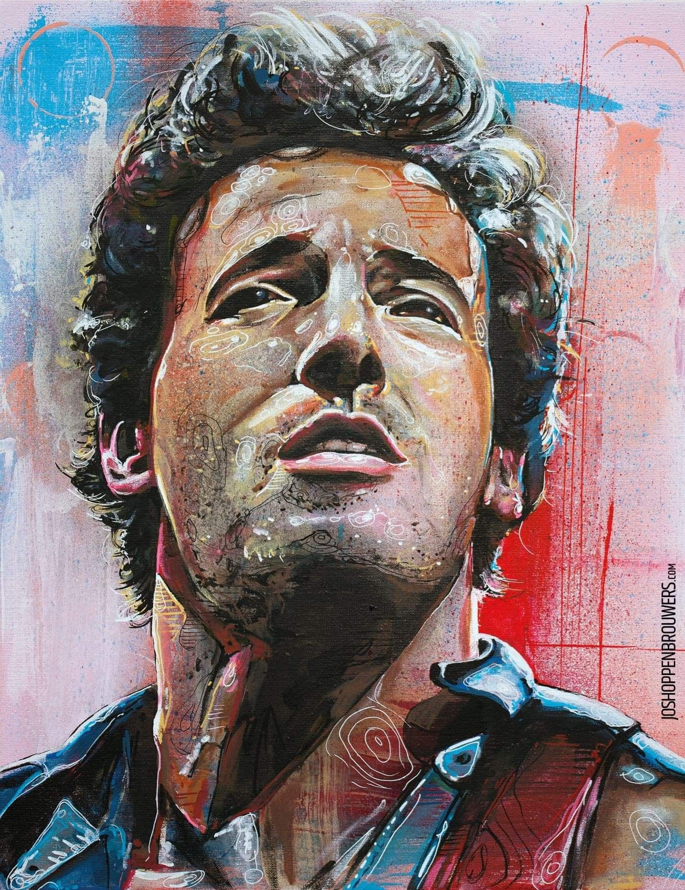 Painting Portrait Music Artist Rock Legend Elvis Presley Canvas Art Print