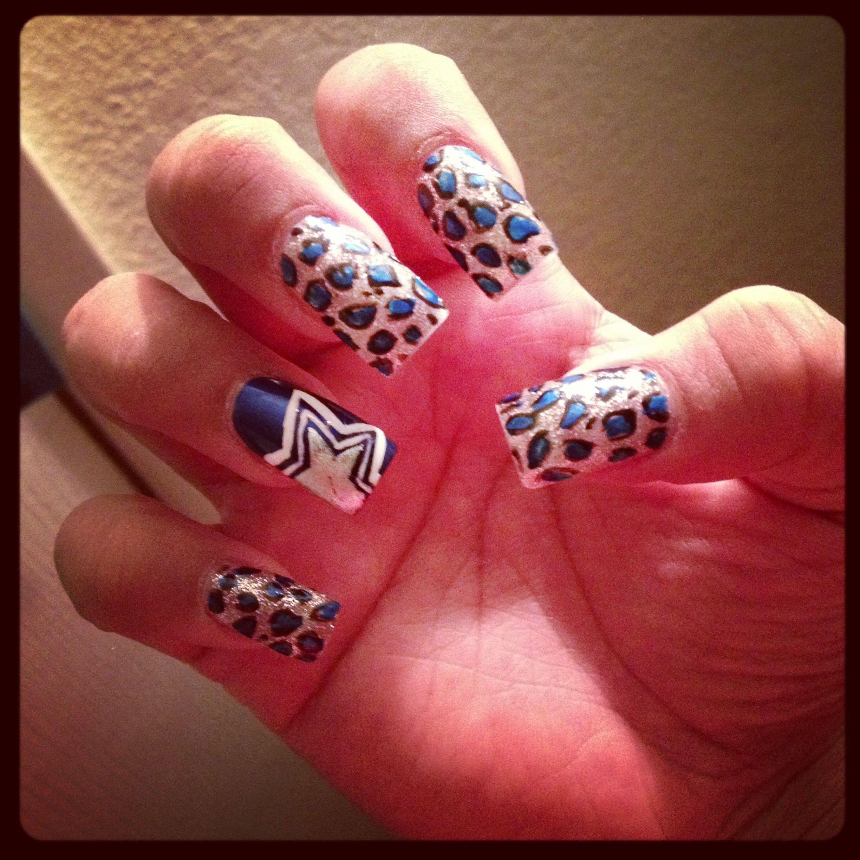 My Dallas Cowboys Nails | Nails <3 | Pinterest | Dallas cowboys ...