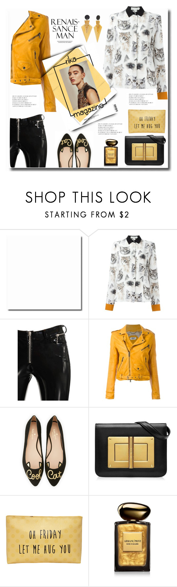 """""""Cool Cat .."""" by gul07 ❤ liked on Polyvore featuring STELLA McCARTNEY, Alyx, Pihakapi, Kate Spade, T-shirt & Jeans, Giorgio Armani, Toolally and Rika"""