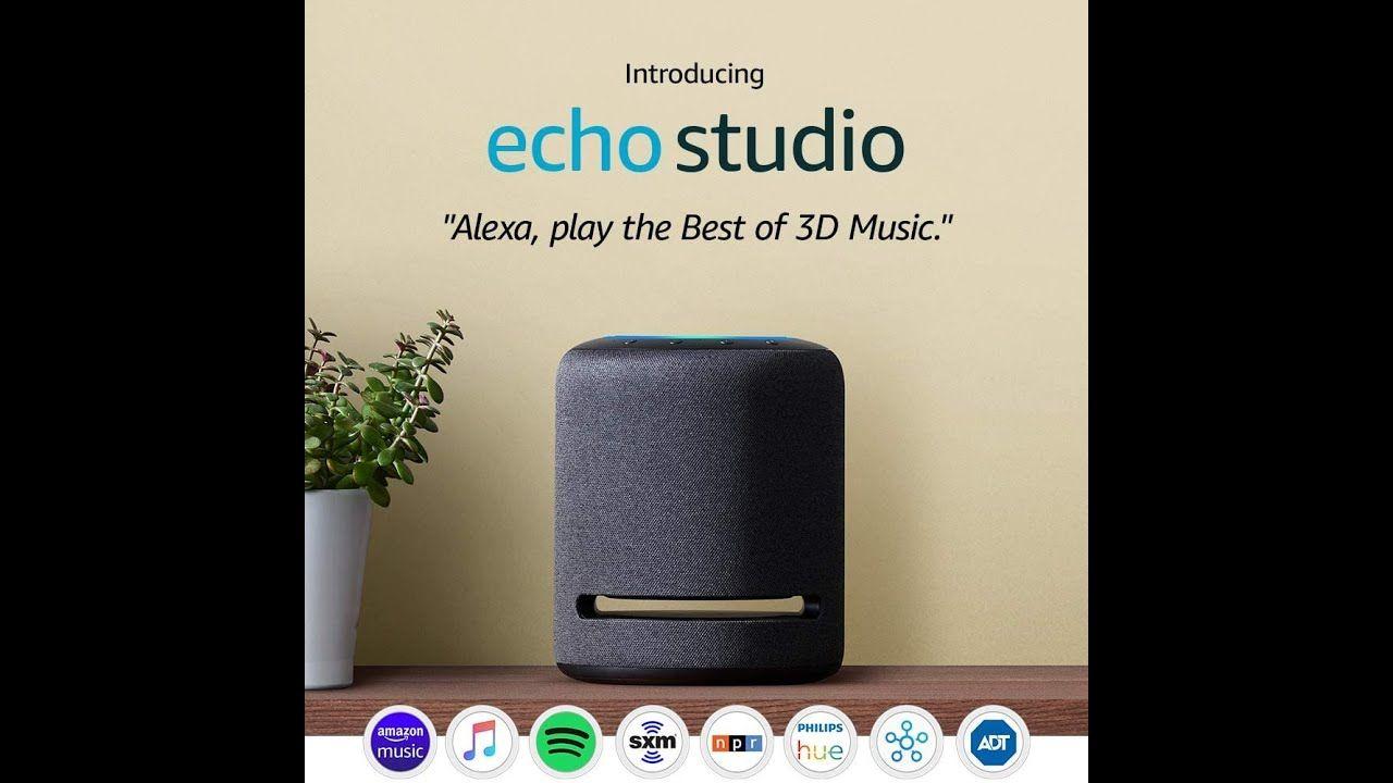 Echo Studio Highfidelity smart speaker with 3D audio