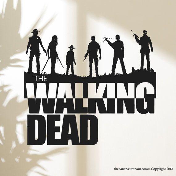 Walking Dead Wall Decal Sticker Decor Sticker by ...
