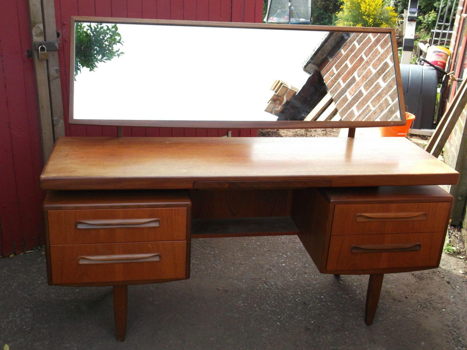 G plan teak vintage retro dressing table desk sideboard for G plan bedroom furniture dressing tables