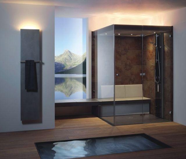 Receveur de douche extra plat pour la salle de bain moderne Spa - antiderapant salle de bain