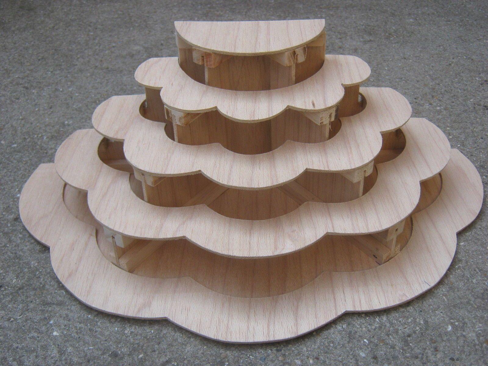 Presentoir A Etages Etagere Bois Gateau Porcelaine Miniature  # Image Etagere En Bois Vitriner