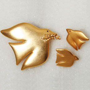 Dove of Peace Pin and Earrings