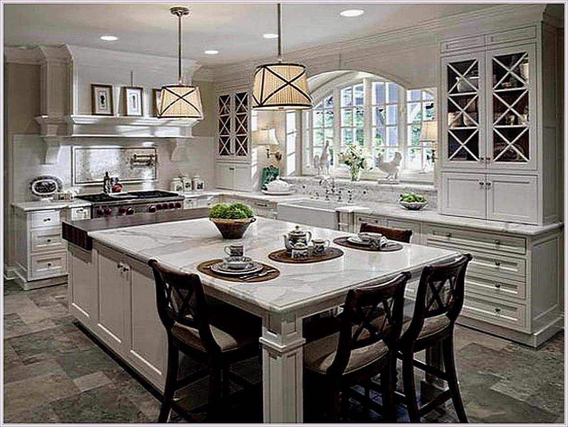 Modern Traditional Kitchen Island Kitchens Classic Countertops