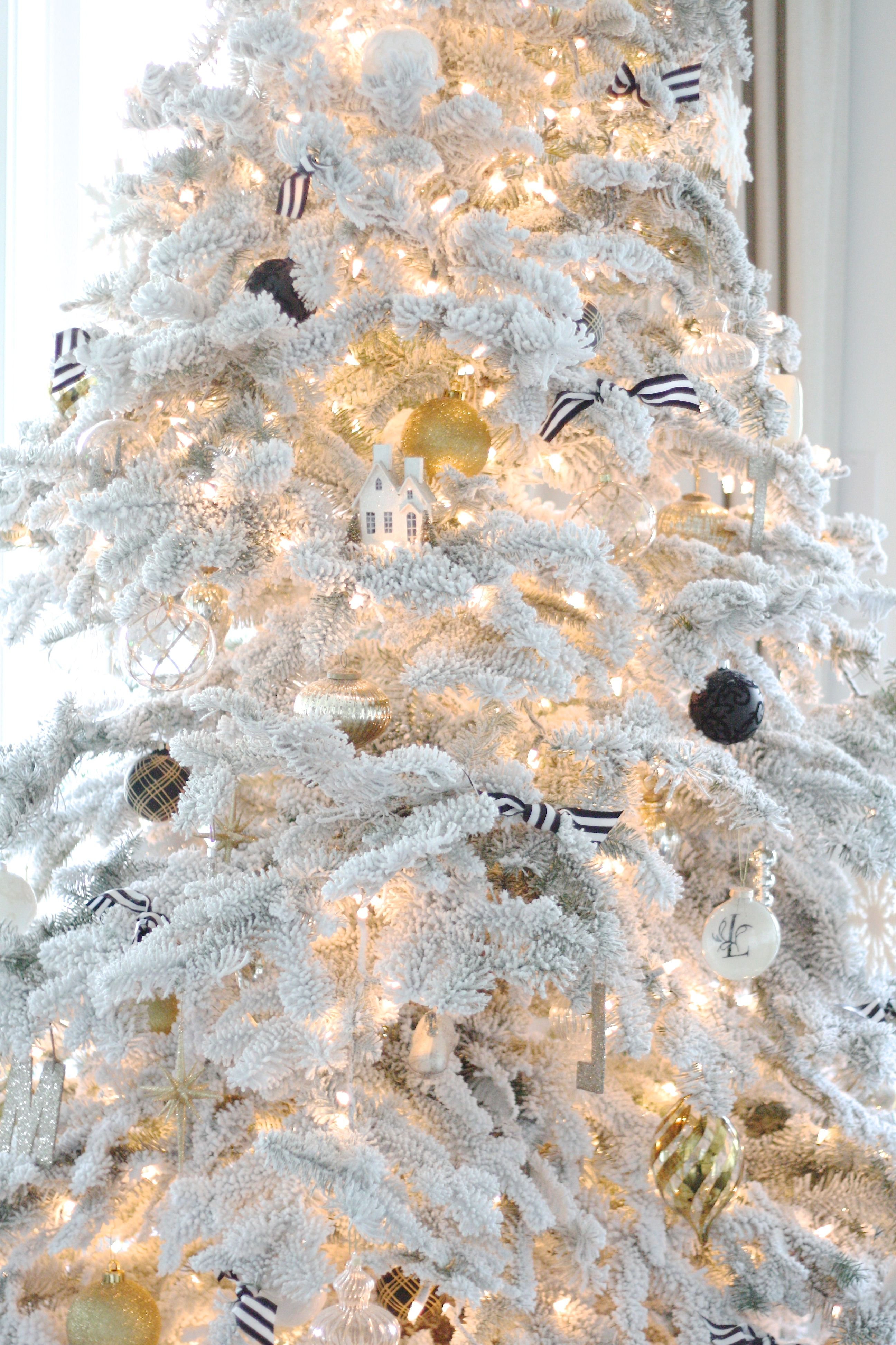 Flocked Christmas Trees........always had one in our house growing ...