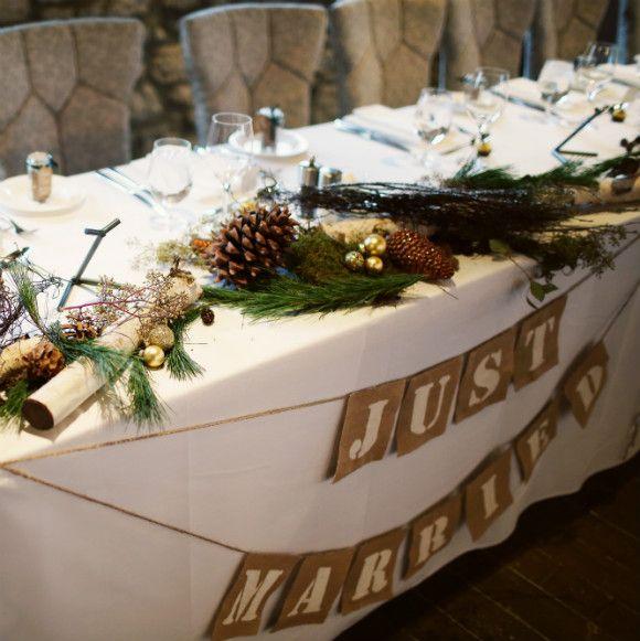 Wedding Reception Head Table Decoration Ideas: Rustic Head Tables