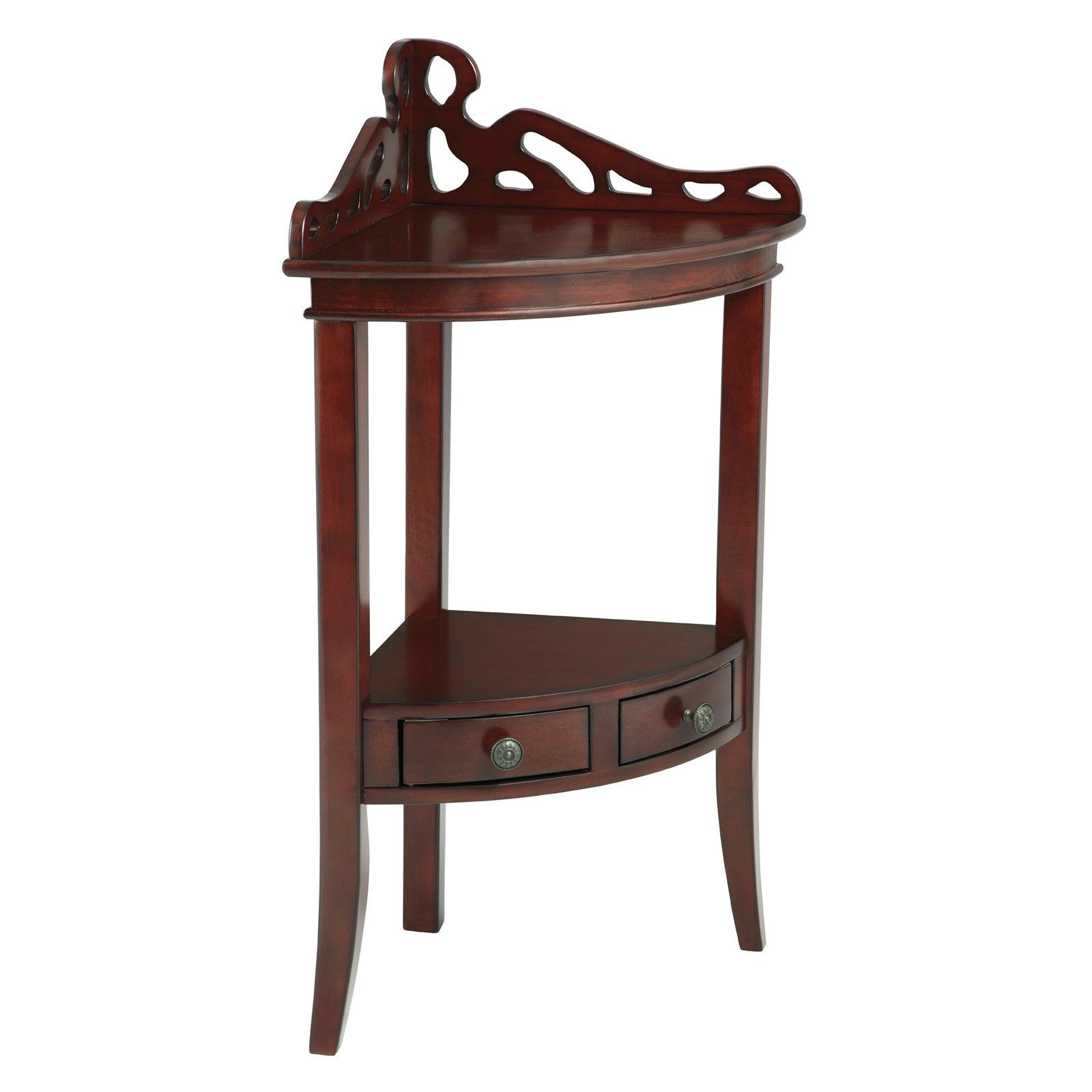 Powell bombay collection gallery corner accent table from powell bombay collection gallery corner accent table from hayneedle watchthetrailerfo