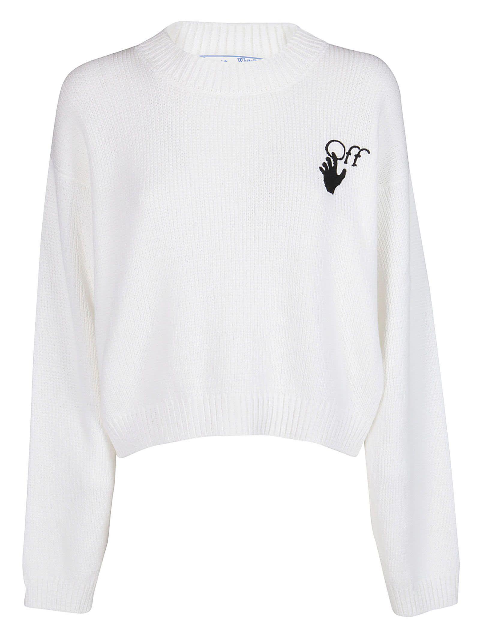Best Price On The Market At Italist Off White Off White White Cotton Sweatshirt
