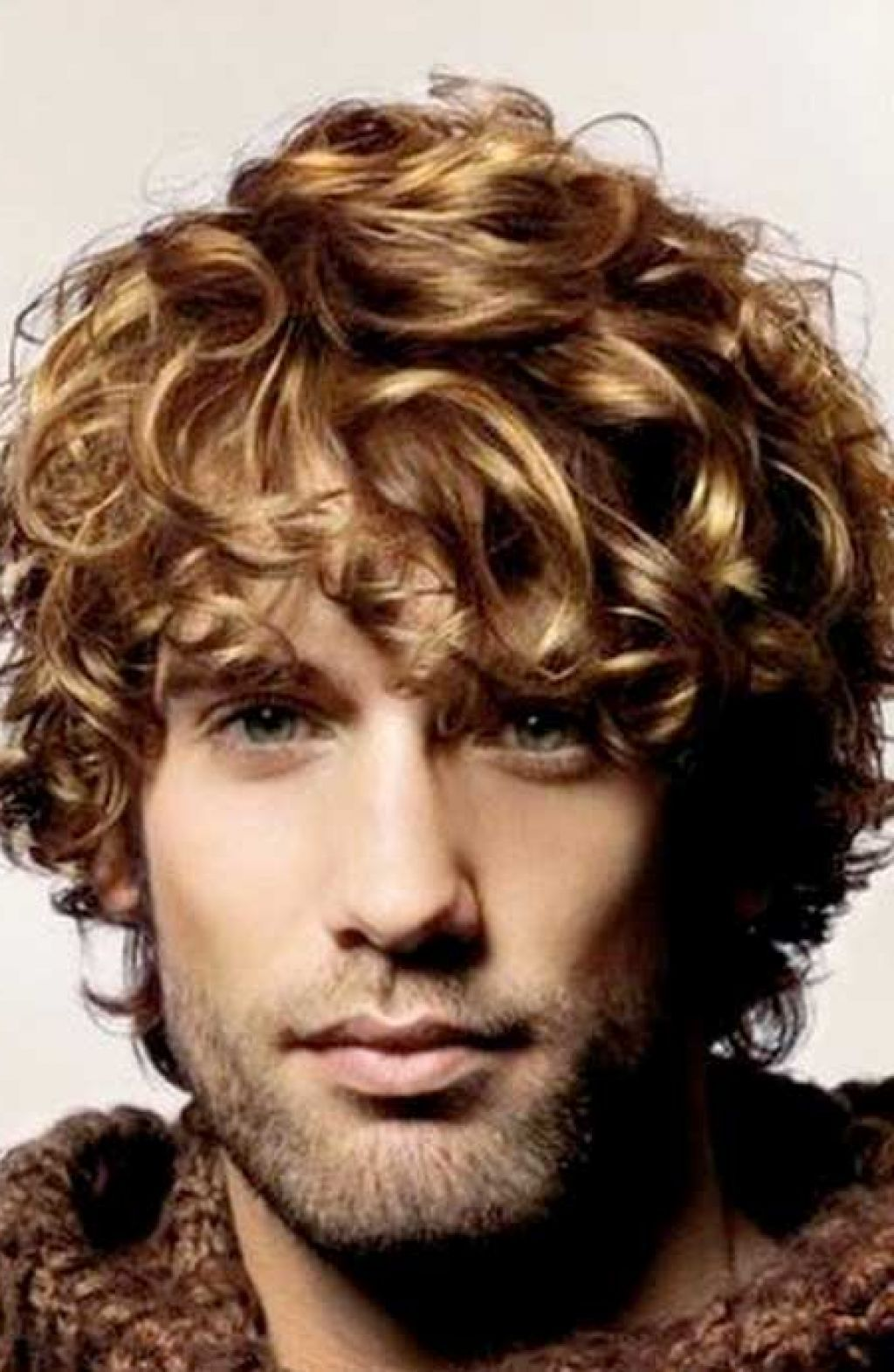 Medium Curly Blonde Hairstyle For Men Long Curly Hair Men