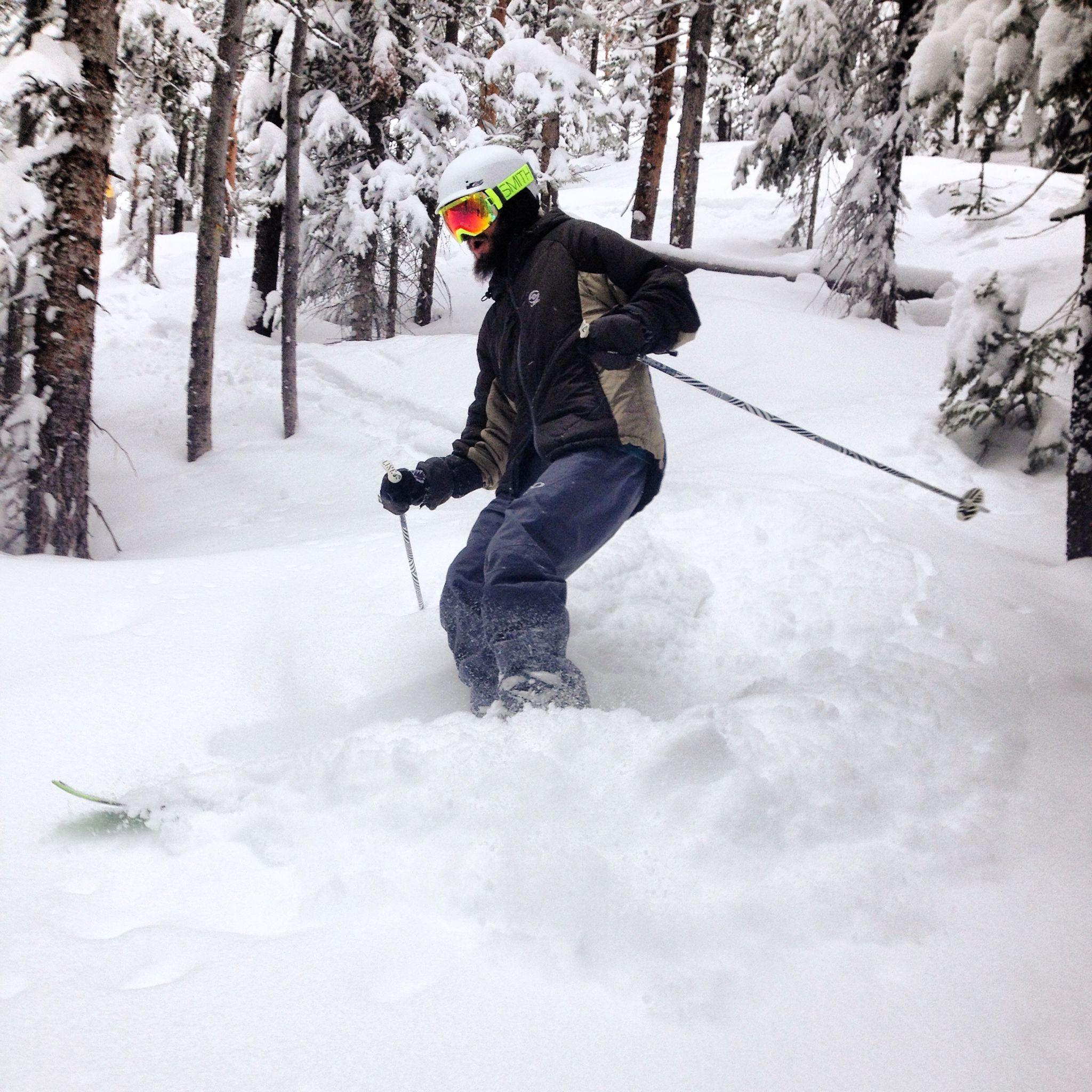 Backcountry skiing - powder - colorado