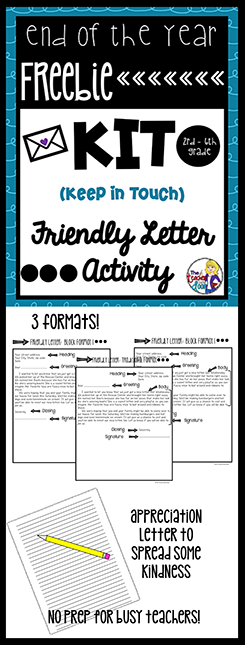 This End Of The Year Kit Keep In Touch Letter Writing Activity