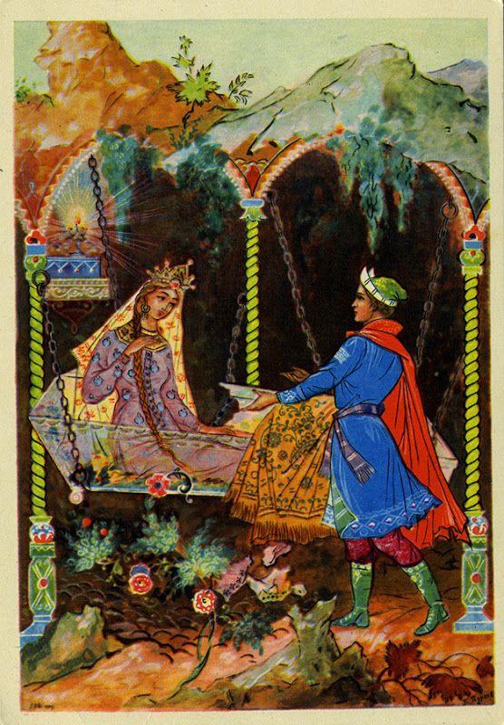 Открытки палеха по сказкам пушкина