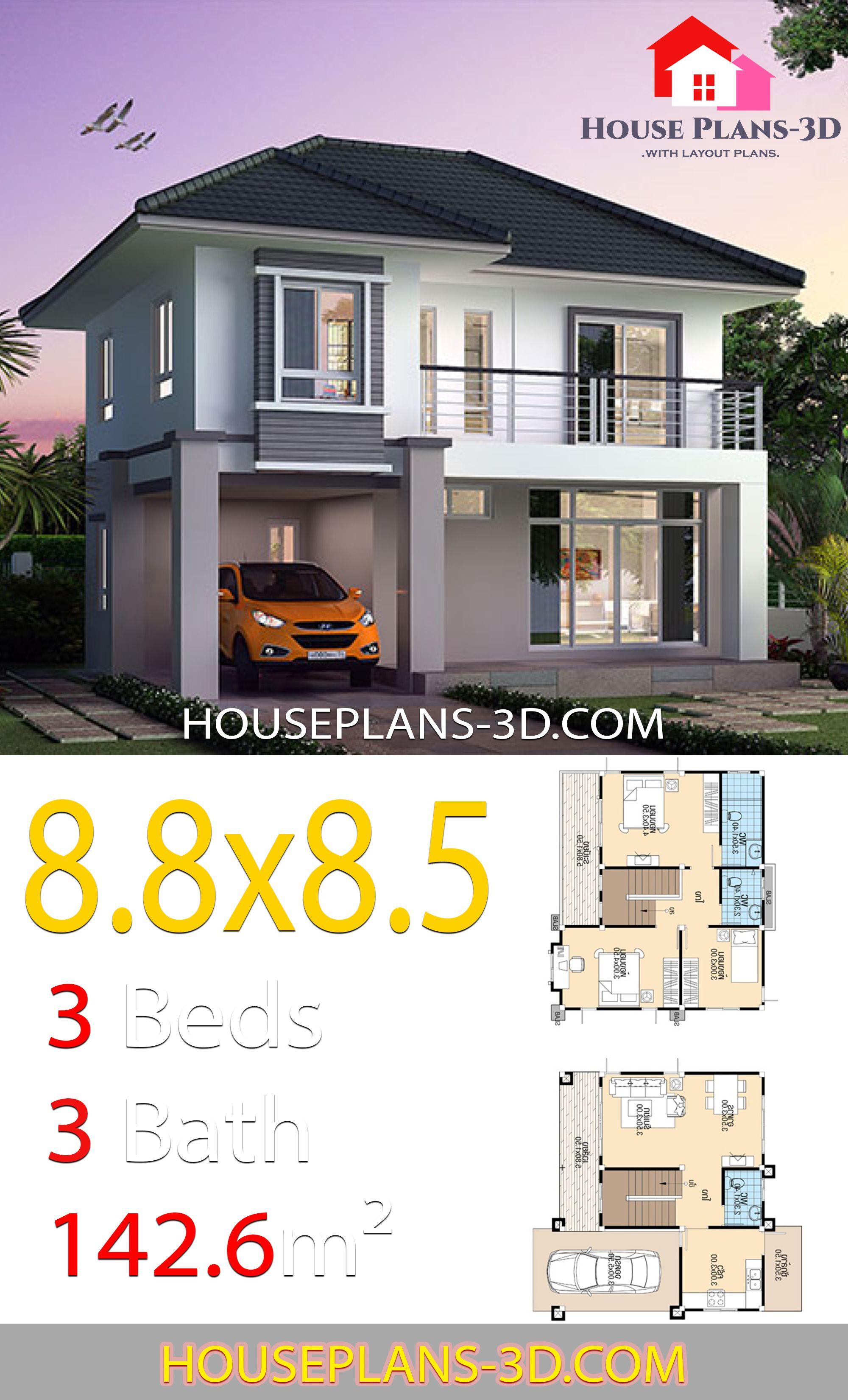 3 Bedroom House Design Plan Images