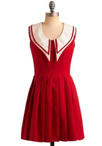 Rachel Antonoff Crimson and Collars Dress