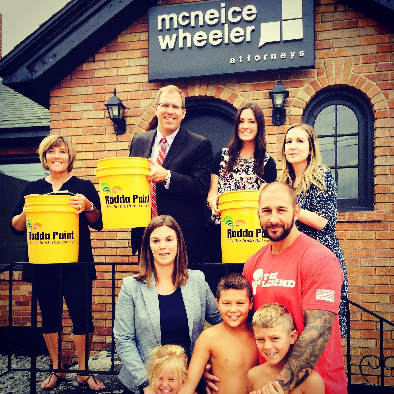 McNeice Wheeler participated in the ALS Ice Bucket Challenge. We nominate Rodda Paint Co. - Spokane, WA