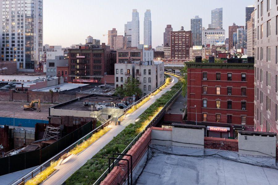 Nachhaltige Stadtentwicklung und Garten-Reise New York
