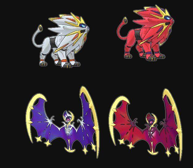 Shiny Solgaleo and Lunala | Pokemon | Pokemon games ...