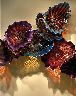 DALE CHIHULY  GTE WALL, 1991  9 X 20 X 2'  GTE WORLD HEADQUARTERS,   IRVING, TEXAS