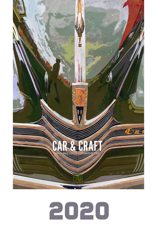 2020 Classic Car Art Calendar – Car & Craft Original Automotive Artwork