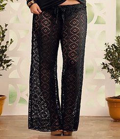 735d997669 Plus-Size Swim Cover-Ups: Lace Beach Pants, Sizes XL-2X | ElegantPlus.com  Editor's Picks