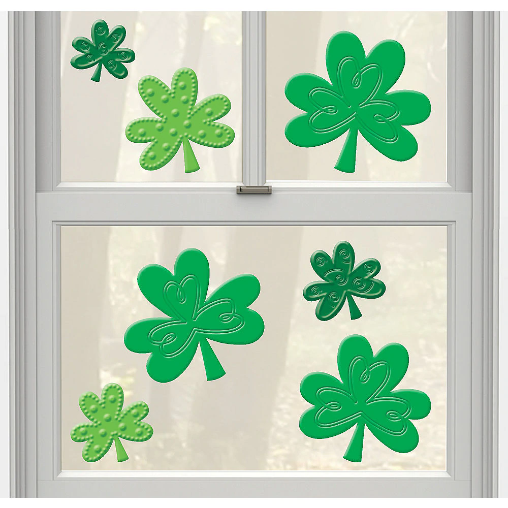 Shamrock Gel Cling Decals 7ct in 2020 Kids party