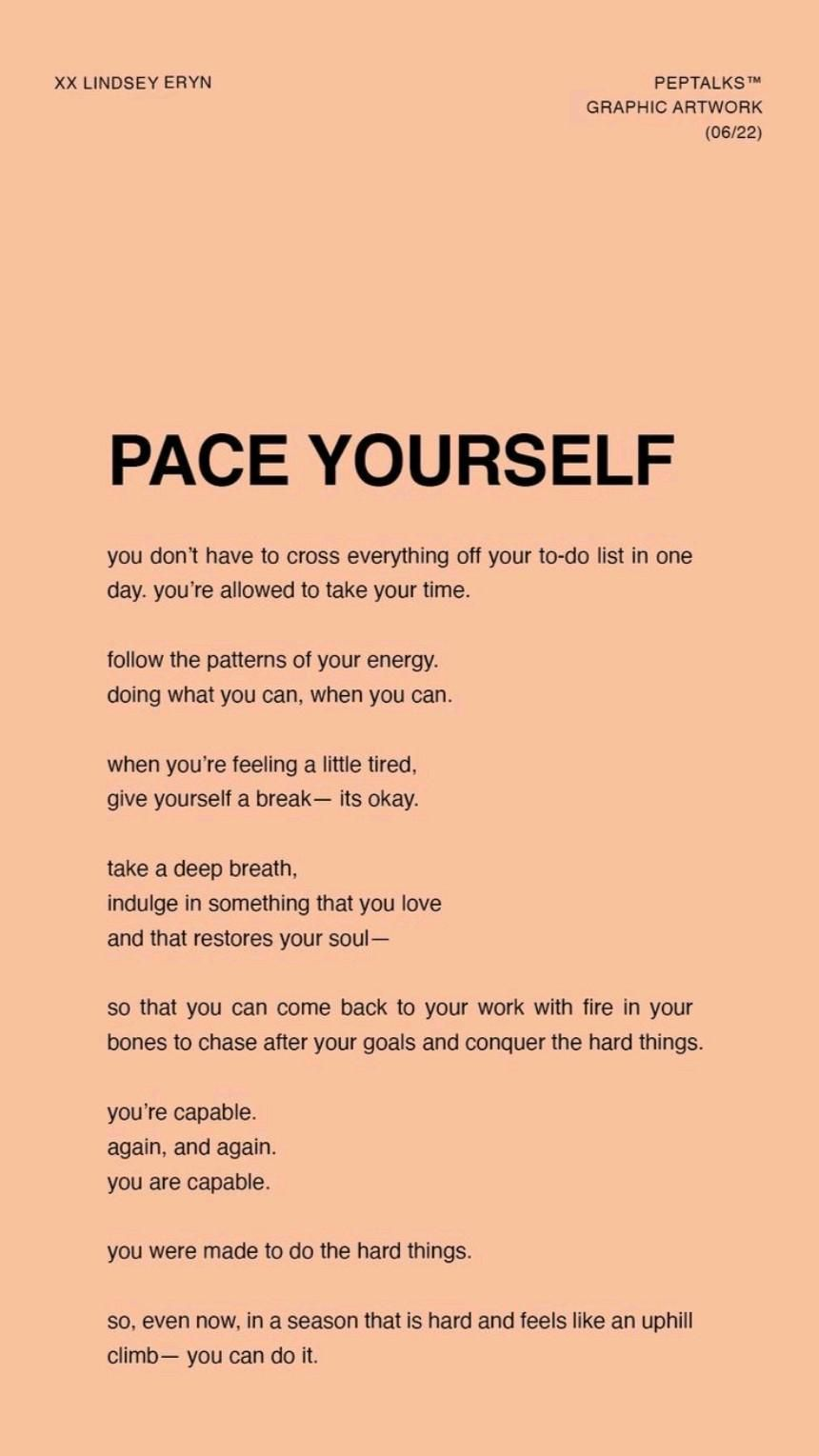 Pace Your Steps & Avoid Burnt Out. Balance your mind, body & soul with Energise Your Tribe 💥💙💢